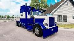 La piel Azul y Blanco para el camión Peterbilt 3