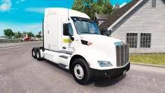 La piel de J. B. Hunt camiones Peterbilt y Volvo