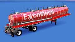 La piel de ExxonMobil chemical tanque