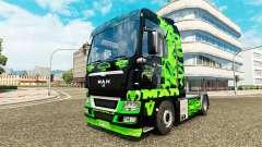 Dragón verde de piel para HOMBRE camión