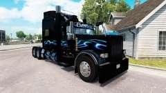 Bluesway de la piel para el camión Peterbilt 389