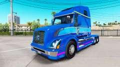 La piel Plycool en el tractor Volvo VNL 670