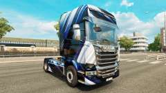 Las Rayas azules de la piel para Scania camión