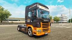 La piel Simuwelt en el tractor Scania