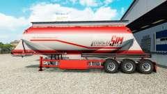 TruckSim de la piel en el semirremolque-camión d