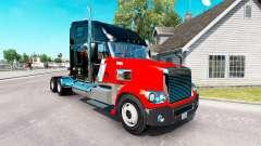 La piel CNTL en el camión Freightliner Coronado