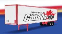 La piel de Fútbol de Canadá en el remolque