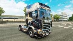 De la piel para Scania camión