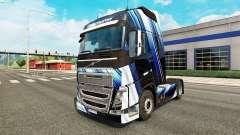 Las Rayas azules de la piel para camiones Volvo