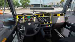 El interior es de color Amarillo-gris Kenworth W