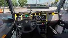 El interior es de color Amarillo-gris Kenworth W