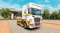 Piel de oro Blanco en el tractor Scania