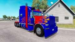 La piel Optimus Prime v2.0 tractor Peterbilt 389