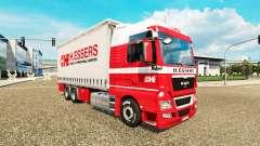 H. Essers de la piel para TGX camión tractor Tán