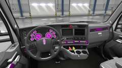 Interior de color Rosa Dial para Kenworth T680