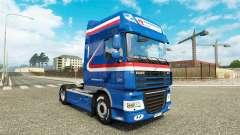 El H. Z. Transporte de la piel para DAF camión