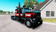 Negro Metálico de la piel para el camión Peterbi