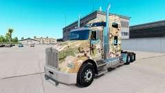La piel de Camuflaje en el camión Kenworth T800