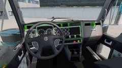 Interior Verde-gris-para Kenworth W900