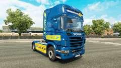 La piel de La Poste para tractor Scania