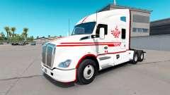 La piel Canadian Express Blanco tractor Kenworth