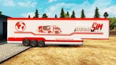 El semirremolque-el refrigerador TruckSim