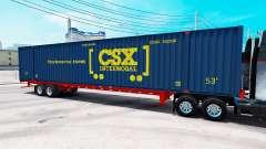 Semirremolque contenedor Intermodal CSX
