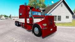 Barón rojo de la piel para el camión Peterbilt 3