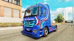 La piel Azul Edición de la unidad tractora Merce