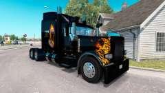 La piel Ghost Rider v2.0 tractor Peterbilt 389