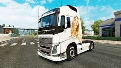 Jennifer Lawrence piel para camiones Volvo