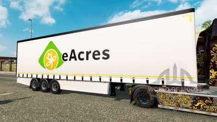 Cortina semirremolque Krone EuroAcres para Euro Truck Simulator 2