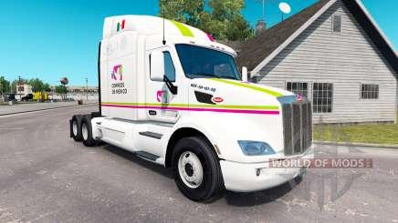 Skin Correos de Mexico for truck Peterbilt para American Truck Simulator