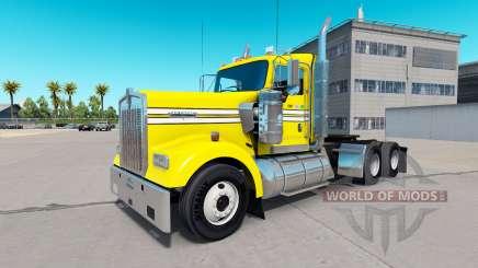 La piel Suave, de color Amarillo en el camión Kenworth W900 para American Truck Simulator
