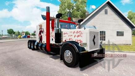 Harley Quin piel para el camión Peterbilt 389 para American Truck Simulator