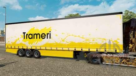 Cortina semirremolque Krone Trameri para Euro Truck Simulator 2