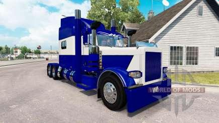 La piel Azul y Blanco para el camión Peterbilt 389 para American Truck Simulator