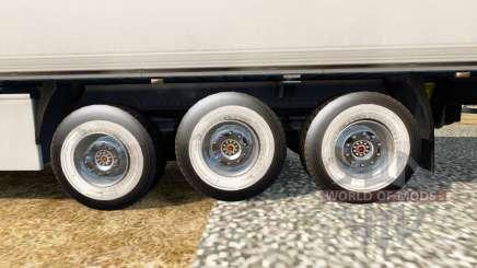 Ruedas nuevas para remolques para Euro Truck Simulator 2