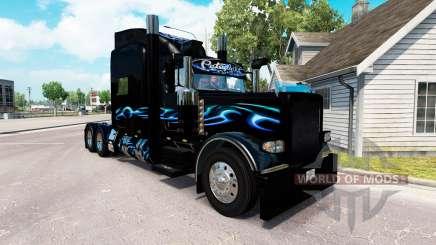Bluesway de la piel para el camión Peterbilt 389 para American Truck Simulator