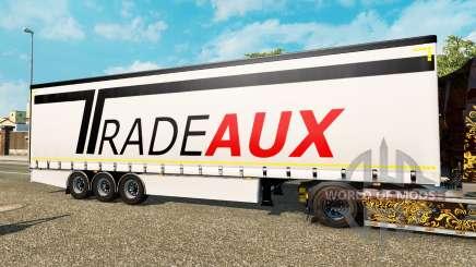 Cortina semirremolque Krone Tradeaux para Euro Truck Simulator 2