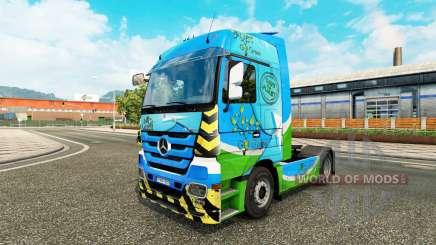 La piel de Ir Verde para tractor Mercedes-Benz para Euro Truck Simulator 2