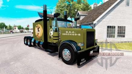 WW2 Estilo de la piel para el camión Peterbilt 389 para American Truck Simulator