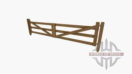 Puerta de madera y valla para Farming Simulator 2017
