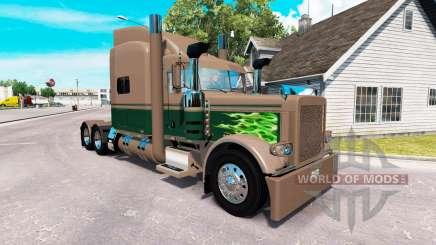 Скин Ken & Barb Caballo de batalla Mostrar на Peterbilt 389 para American Truck Simulator