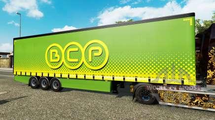 Cortina semirremolque Krone BCP para Euro Truck Simulator 2