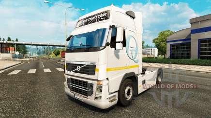 Piel Q-Meieriet para camiones Volvo para Euro Truck Simulator 2