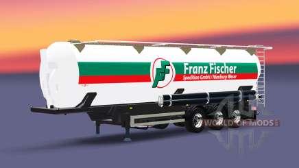 The semitrailer tanque de Franz Fischer para Euro Truck Simulator 2