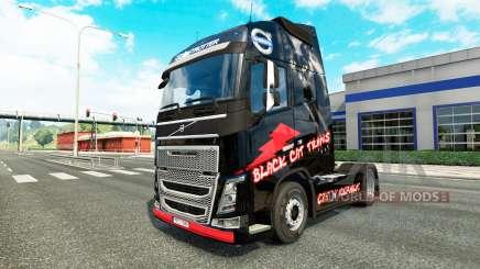 Piel de Gato Negro Trans para camiones Volvo para Euro Truck Simulator 2