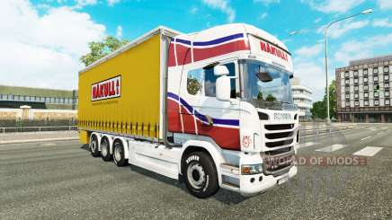La piel Hakull en el tractor Scania Tándem para Euro Truck Simulator 2