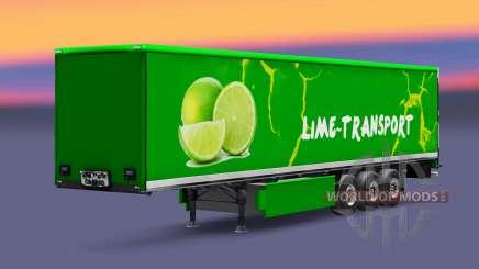 La piel Grun Cal en semi para Euro Truck Simulator 2